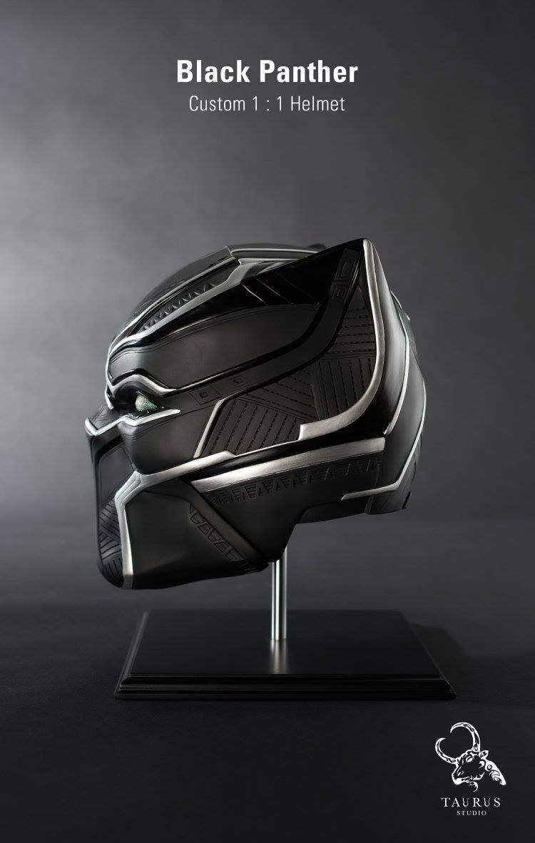 Custom 1:1 Black Panther Helmet - Marvelous Toys - 4