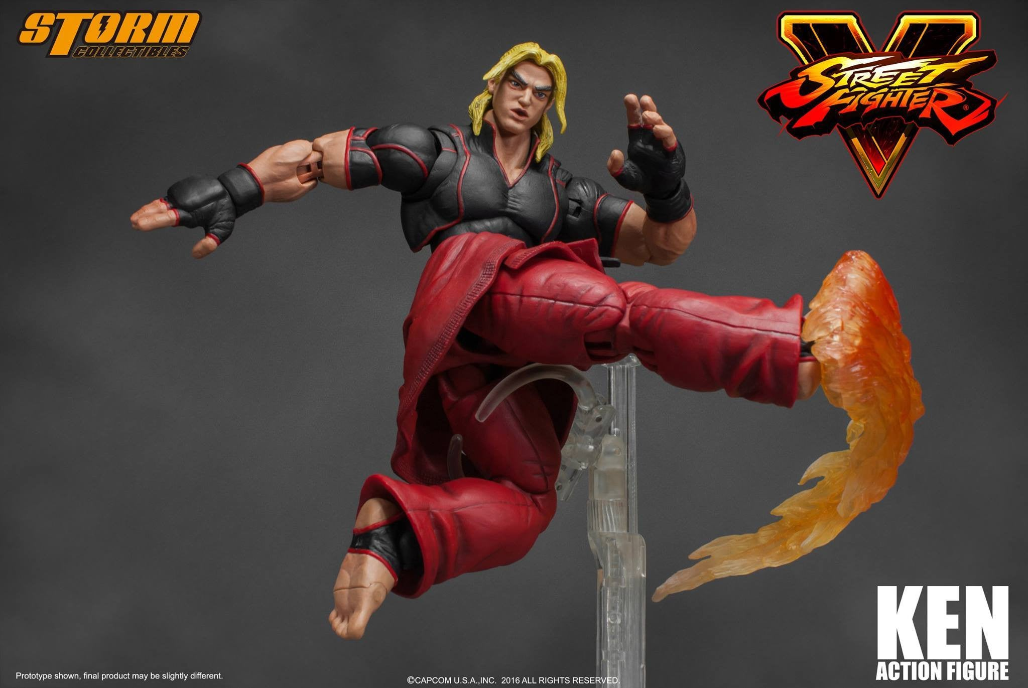 Storm Collectibles - 1:12 Scale Action Figure - Street Fighter V - Ken - Marvelous Toys - 2