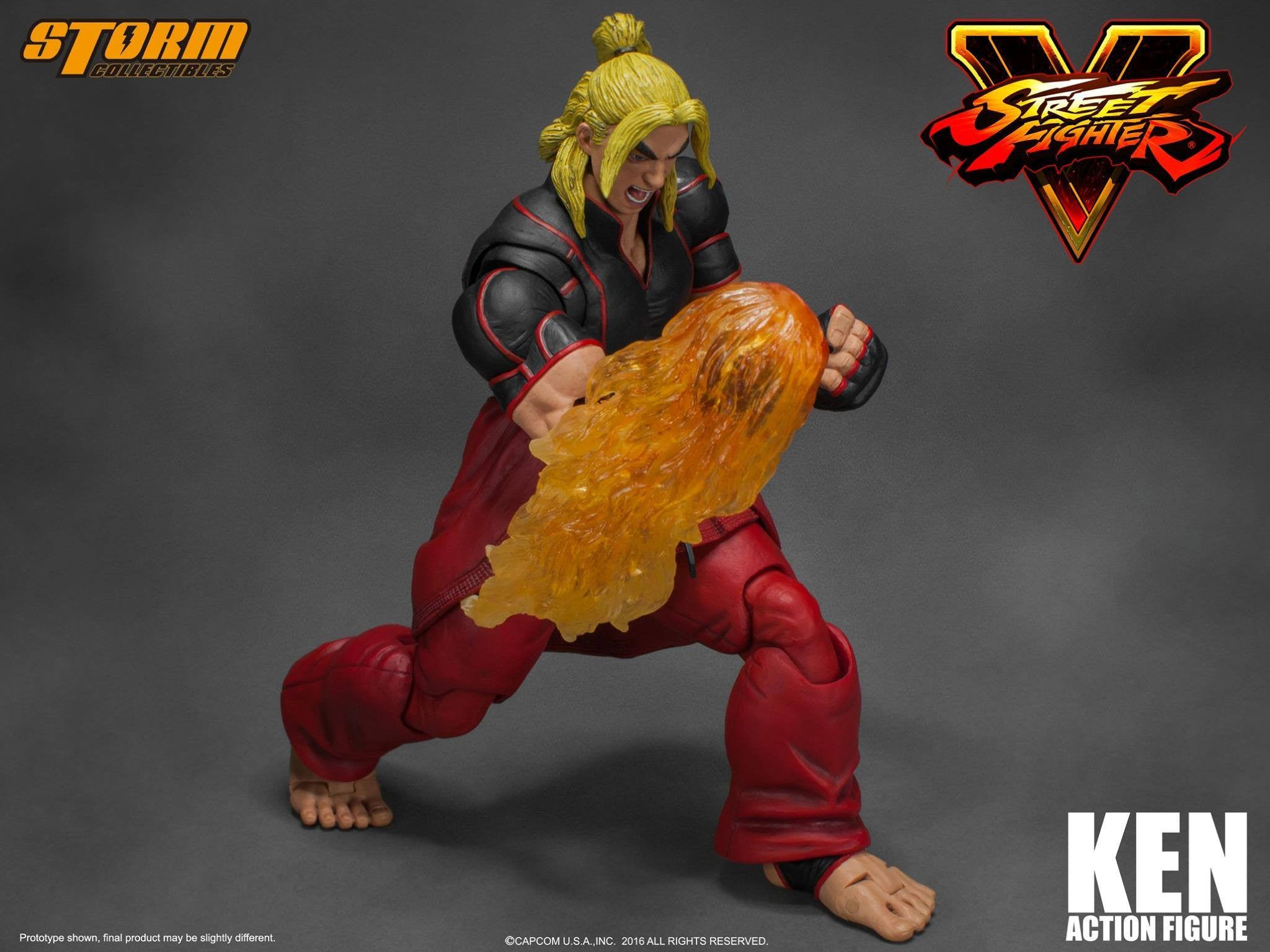Storm Collectibles - 1:12 Scale Action Figure - Street Fighter V - Ken - Marvelous Toys - 3