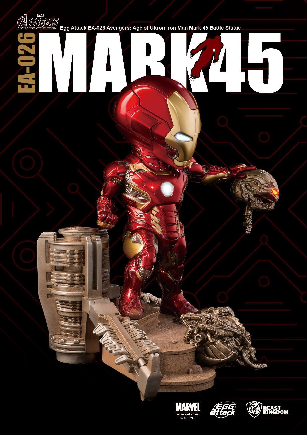 Egg Attack - EA-026 - Avengers: Age of Ultron - Mark 45 (XLV) Battle Statue - Marvelous Toys - 3