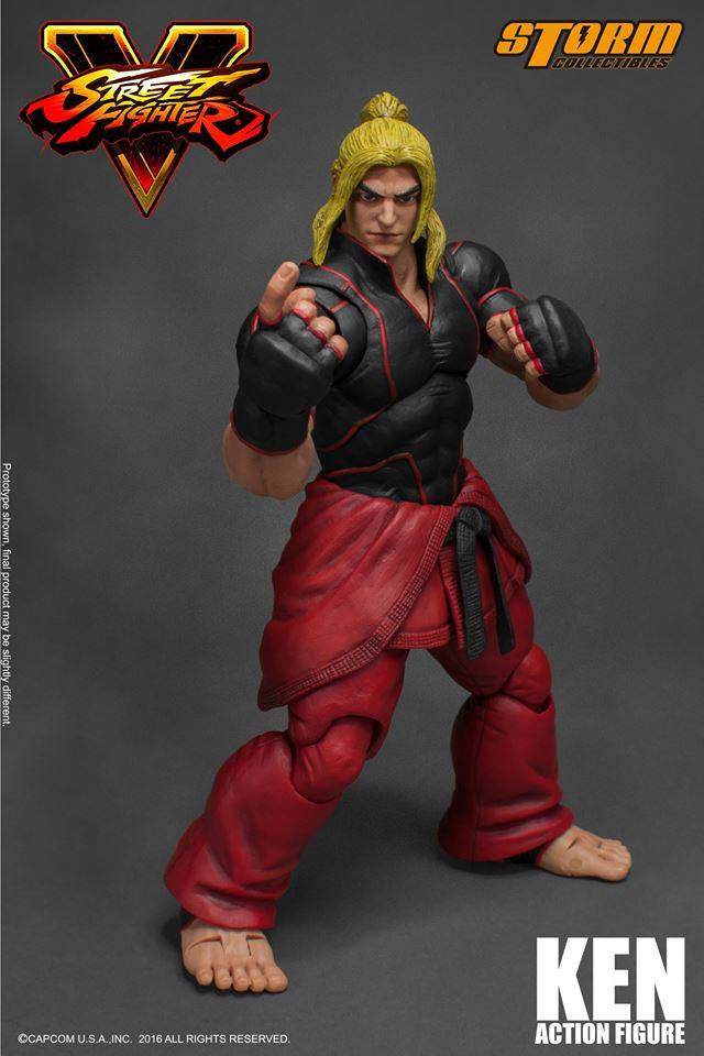 Storm Collectibles - 1:12 Scale Action Figure - Street Fighter V - Ken - Marvelous Toys - 16