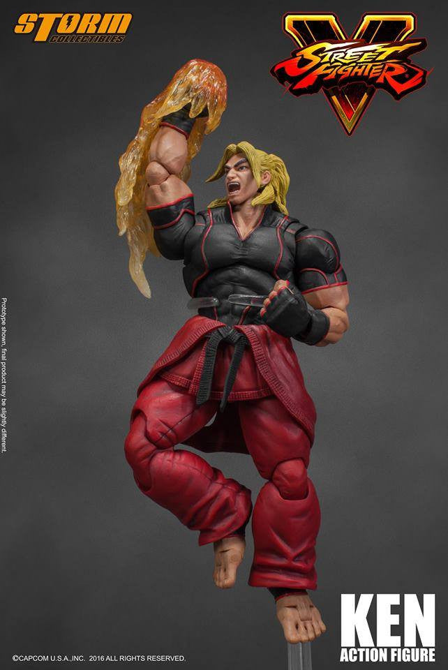 Storm Collectibles - 1:12 Scale Action Figure - Street Fighter V - Ken - Marvelous Toys - 1