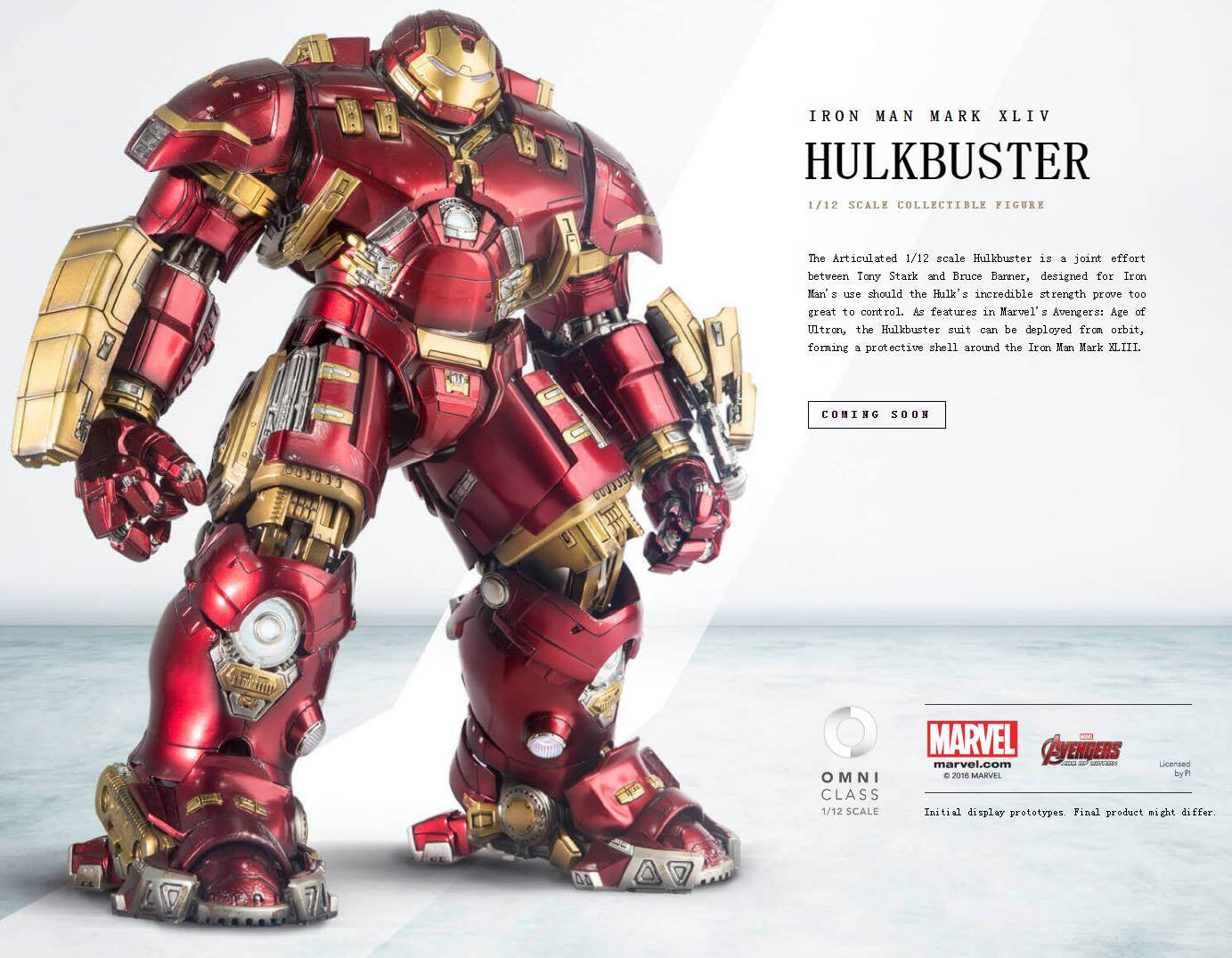 Comicave Studios - Omni Class: 1/12 Scale Iron Man Mark 44 (XLIV) (Hulkbuster) - Marvelous Toys - 2