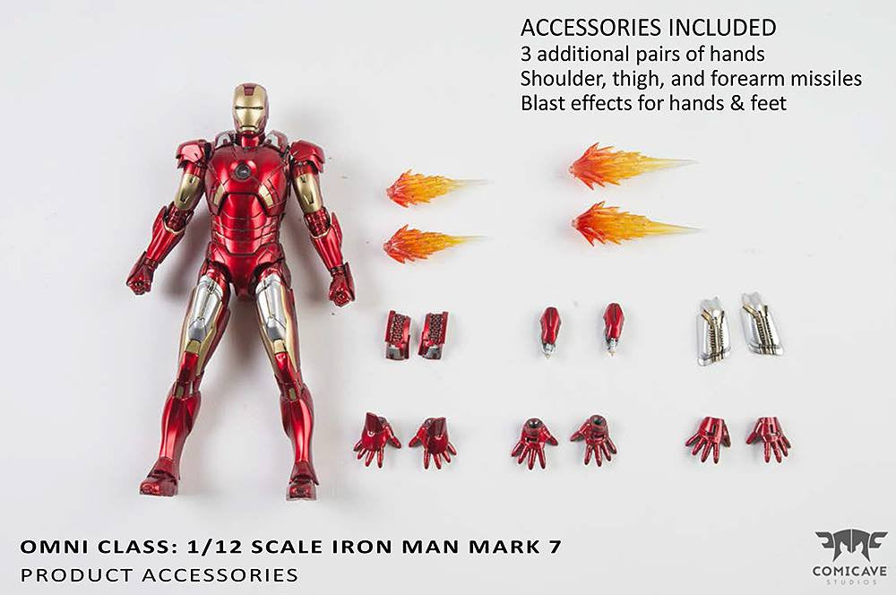 Comicave Studios - Omni Class: 1/12 Scale Iron Man Mark 7 (VII) - Marvelous Toys - 8