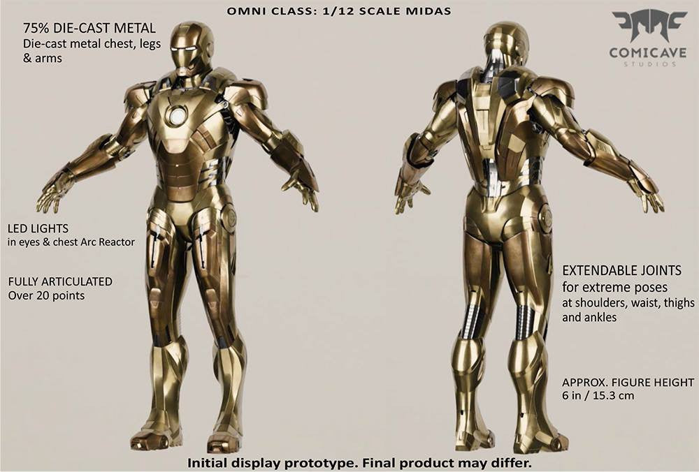 Comicave Studios - Omni Class: 1/12 Scale Iron Man Mark 21 (XXI) (Midas) - Marvelous Toys - 2
