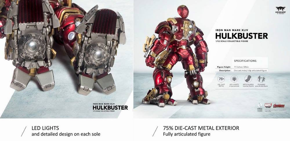 Comicave Studios - Omni Class: 1/12 Scale Iron Man Mark 44 (XLIV) (Hulkbuster) - Marvelous Toys - 7