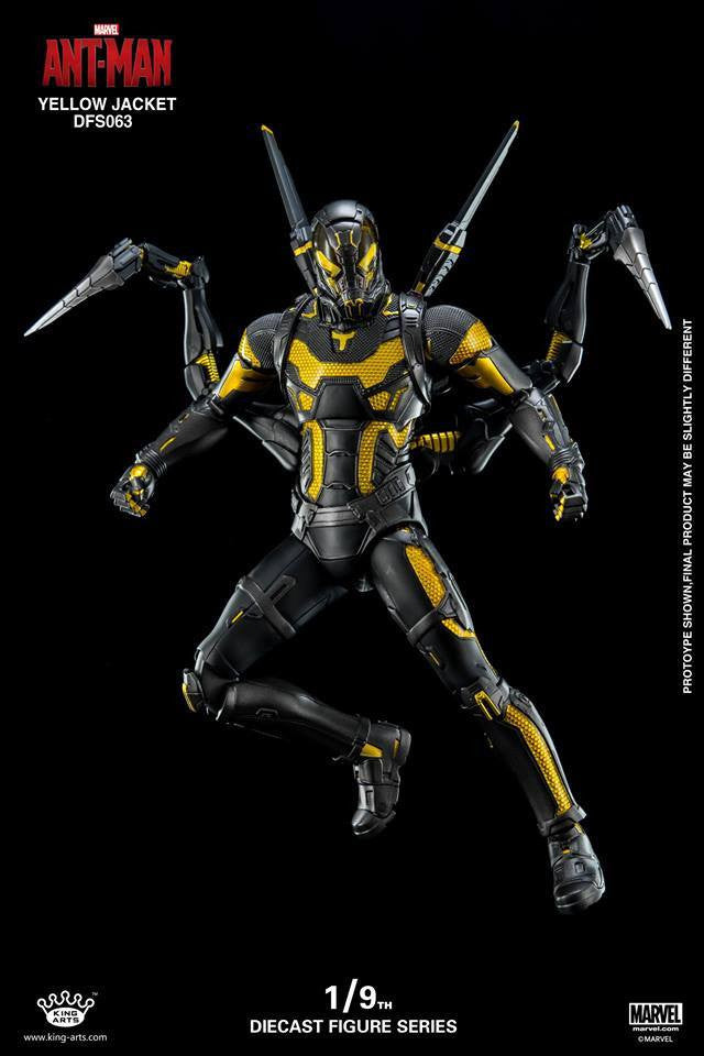 King Arts - DFS063 - Ant-Man - Yellow Jacket - Marvelous Toys - 3