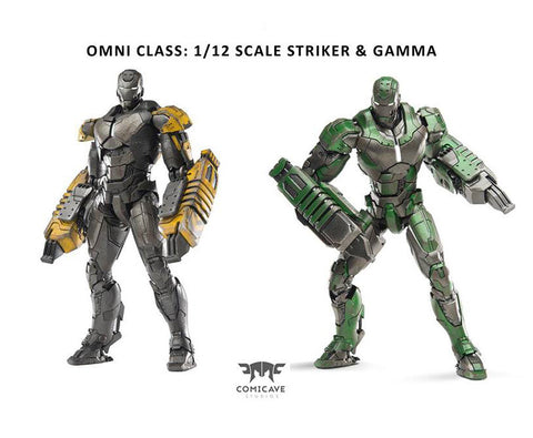 Comicave Studios - Omni Class: 1/12 Scale Iron Man Mark 25 (XXV) & Mark 26 (XXVI) (Striker & Gamma) Set - Marvelous Toys - 1