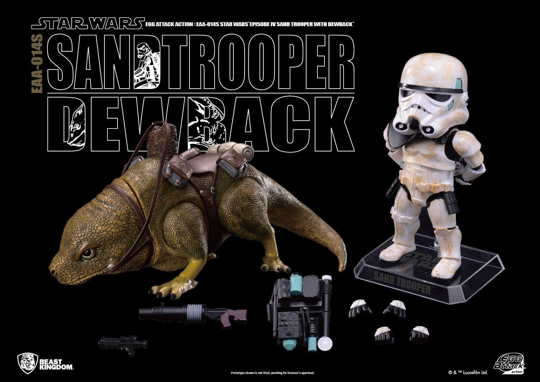Egg Attack Action - EAA-014S - Star Wars: A New Hope - Dewback & Imperial Sandtrooper - Marvelous Toys - 4