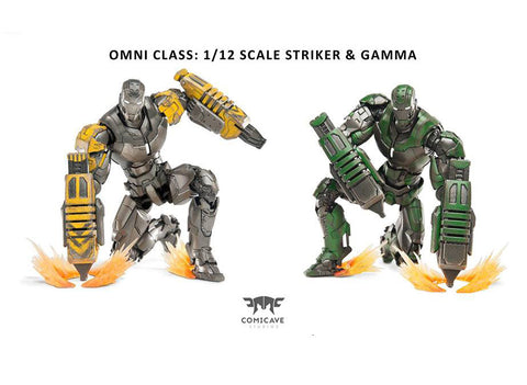 Comicave Studios - Omni Class: 1/12 Scale Iron Man Mark 25 (XXV) & Mark 26 (XXVI) (Striker & Gamma) Set - Marvelous Toys - 2