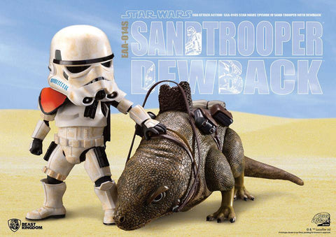 Egg Attack Action - EAA-014S - Star Wars: A New Hope - Dewback & Imperial Sandtrooper - Marvelous Toys - 1