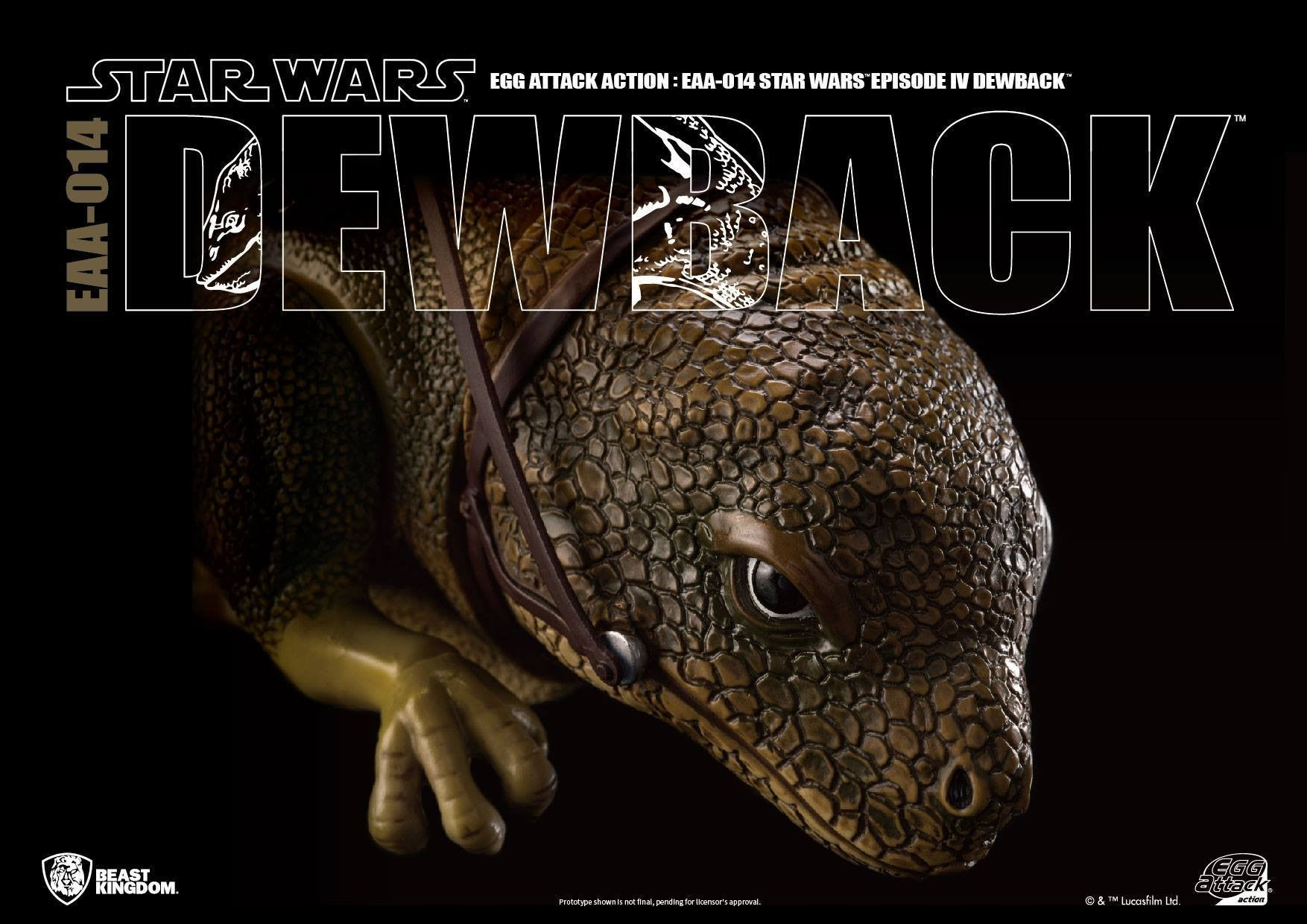 Egg Attack Action - EAA-014 - Star Wars: A New Hope - Dewback - Marvelous Toys - 3