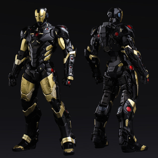 (IN STOCK) Sentinel - Re:Edit - Iron Man #06 Marvel Now! Ver. Black X Gold (Japan Version) - Marvelous Toys - 1