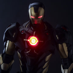 (IN STOCK) Sentinel - Re:Edit - Iron Man #06 Marvel Now! Ver. Black X Gold (Japan Version) - Marvelous Toys - 2