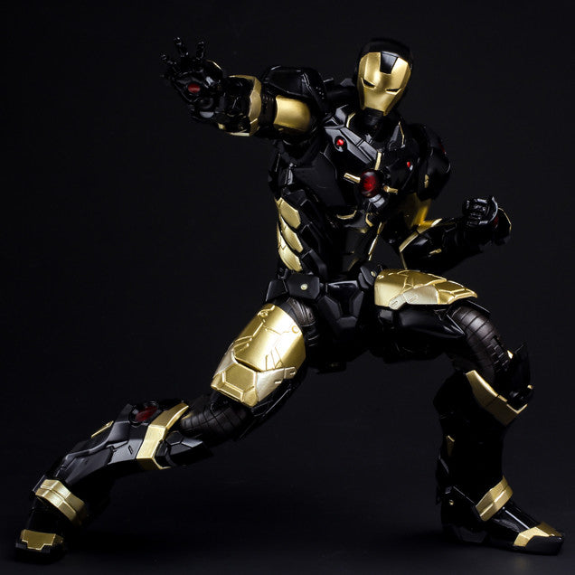 (IN STOCK) Sentinel - Re:Edit - Iron Man #06 Marvel Now! Ver. Black X Gold (Japan Version) - Marvelous Toys - 8