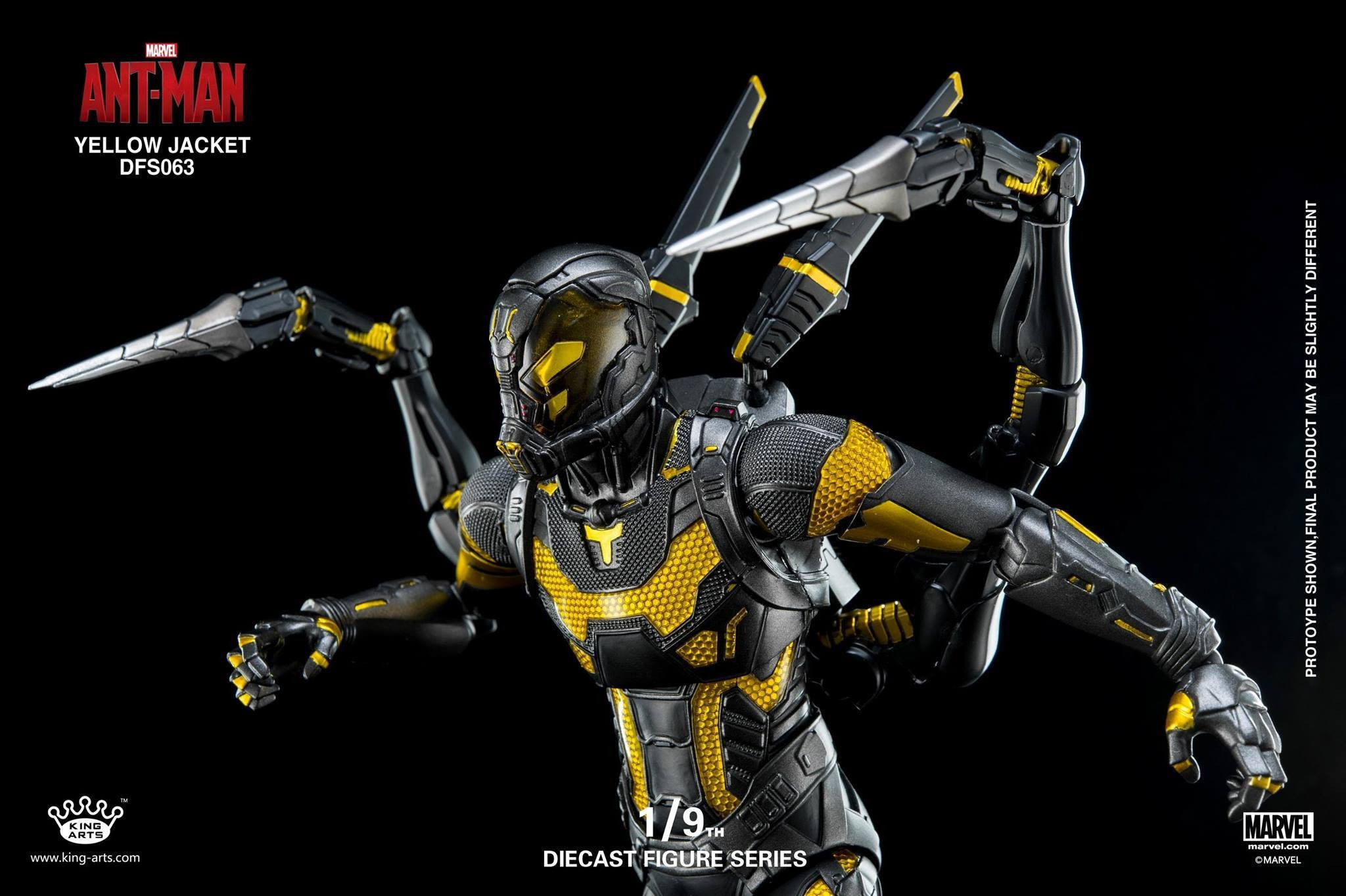 King Arts - DFS063 - Ant-Man - Yellow Jacket - Marvelous Toys - 9