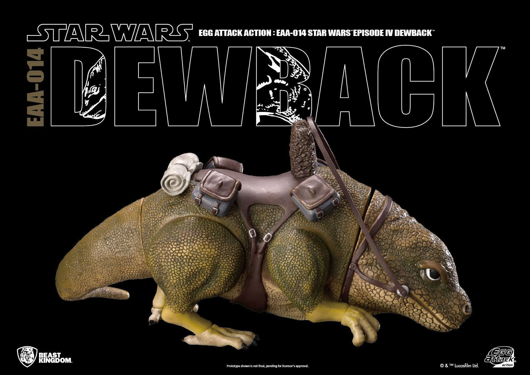 Egg Attack Action - EAA-014 - Star Wars: A New Hope - Dewback - Marvelous Toys - 4
