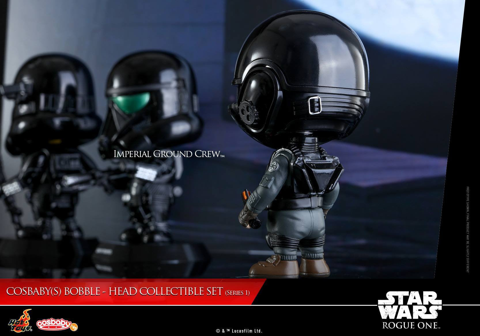 (IN STOCK) Hot Toys - COSB331 - Rogue One: A Star Wars Story - Imperial Ground Crew Cosbaby Bobble-Head - Marvelous Toys - 3