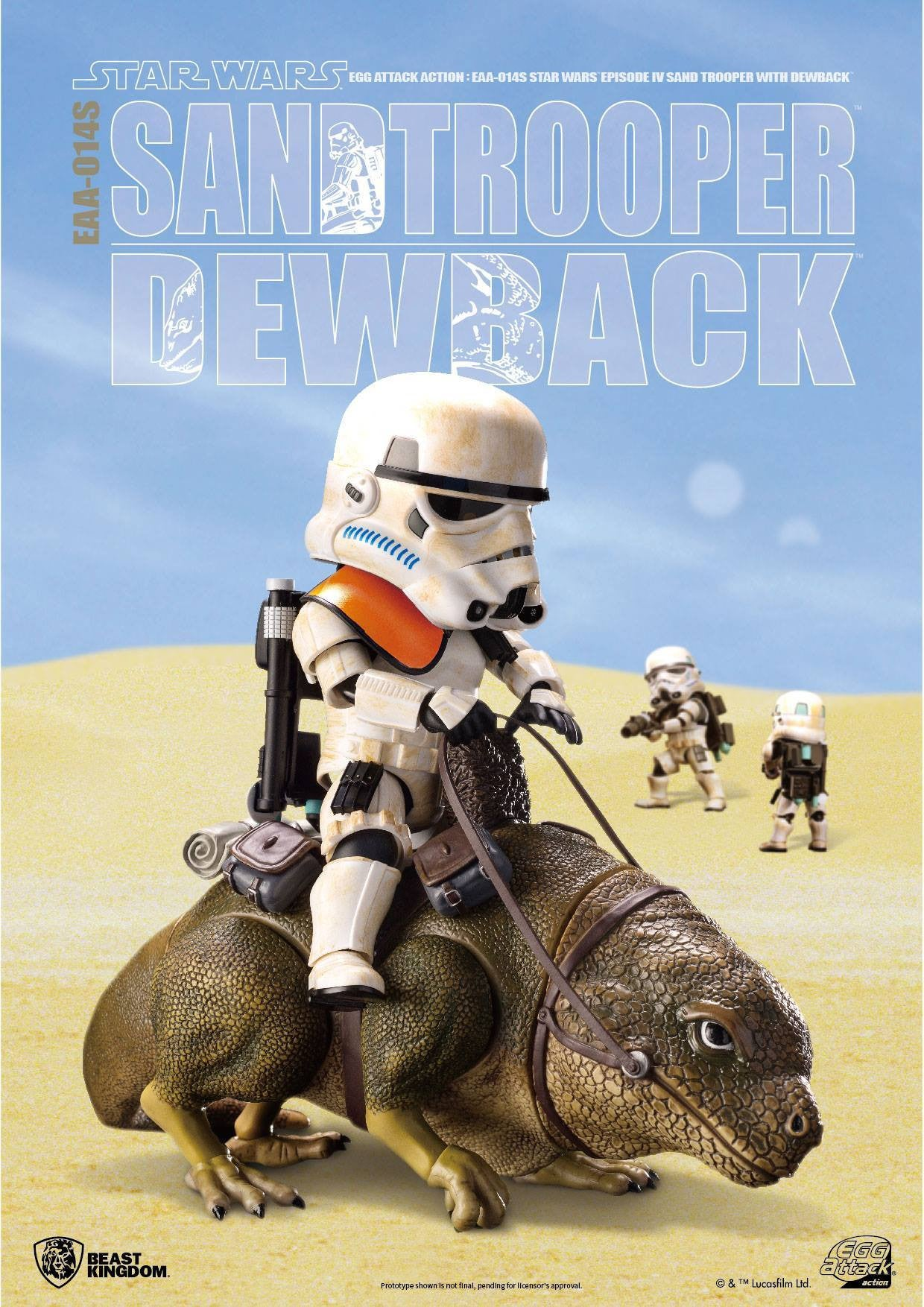 Egg Attack Action - EAA-014S - Star Wars: A New Hope - Dewback & Imperial Sandtrooper - Marvelous Toys - 3
