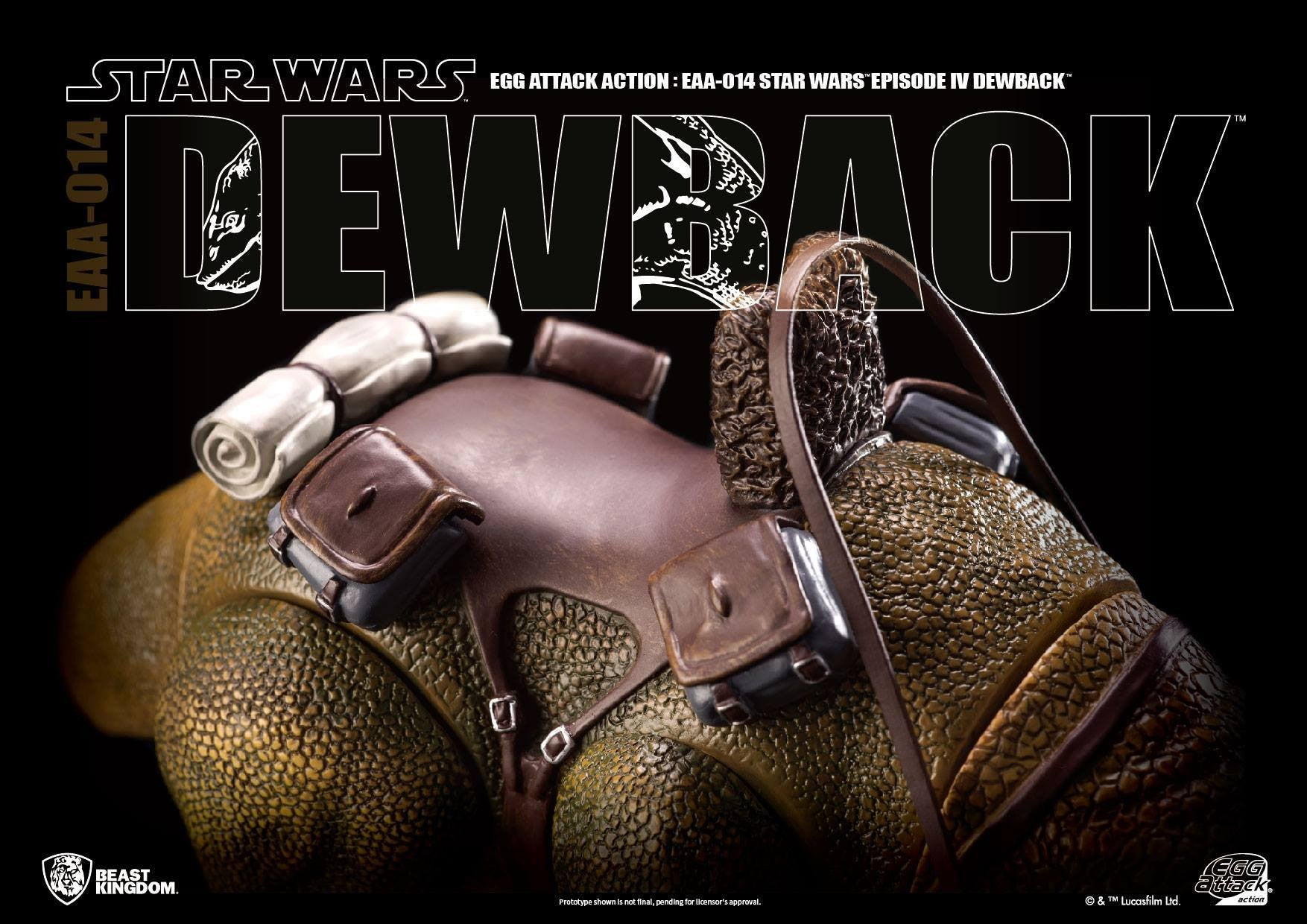 Egg Attack Action - EAA-014 - Star Wars: A New Hope - Dewback - Marvelous Toys - 5