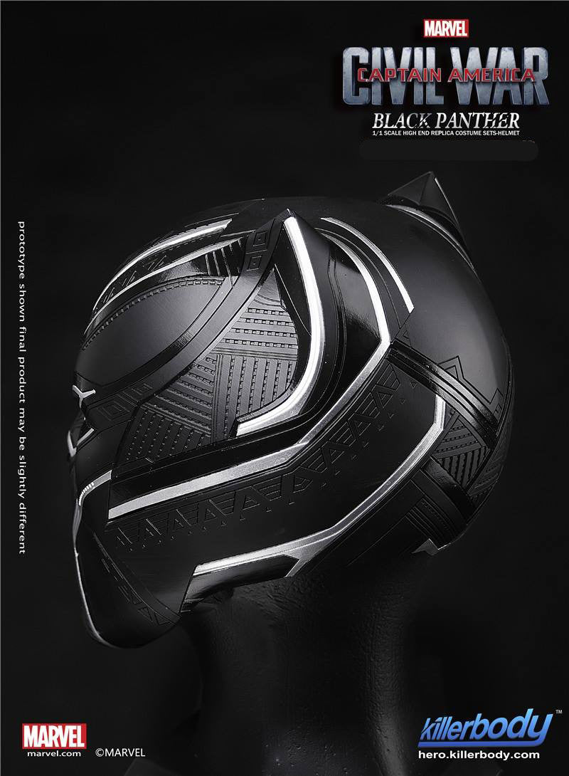 Killerbody - 1/1 Scale High End Replica - Captain America: Civil War - Black Panther Helmet - Marvelous Toys - 4