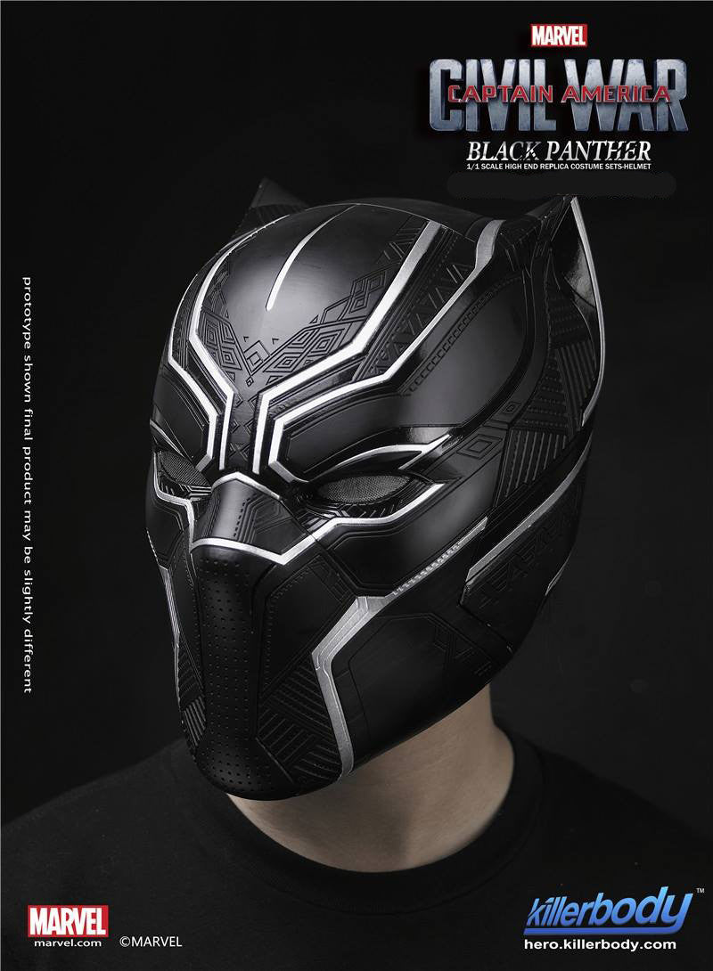 Killerbody - 1/1 Scale High End Replica - Captain America: Civil War - Black Panther Helmet - Marvelous Toys - 6