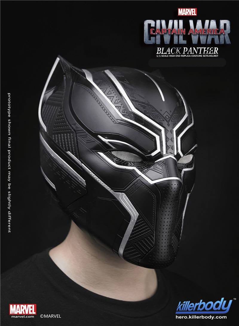 Killerbody - 1/1 Scale High End Replica - Captain America: Civil War - Black Panther Helmet - Marvelous Toys - 7