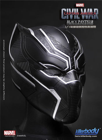 Killerbody - 1/1 Scale High End Replica - Captain America: Civil War - Black Panther Helmet - Marvelous Toys - 1