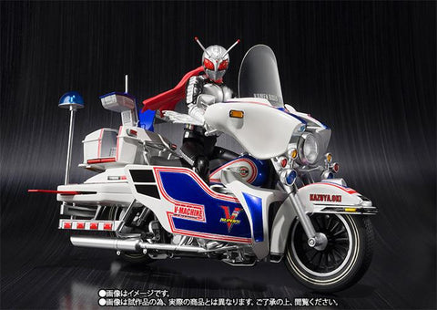 S.H.Figuarts - Masked Rider - Masked Rider Super 1 & V-Machine Set (TamashiiWeb Exclusive) - Marvelous Toys - 2