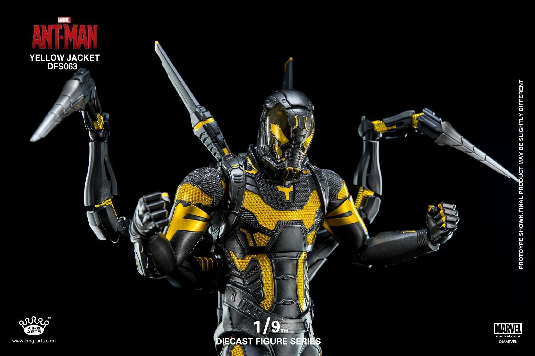 King Arts - DFS063 - Ant-Man - Yellow Jacket - Marvelous Toys - 13