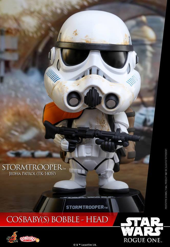 Hot Toys - COSB334 - Rogue One: A Star Wars Story - Stormtrooper Jedha Patrol (TK-14057) Cosbaby Bobble-Head - Marvelous Toys - 2