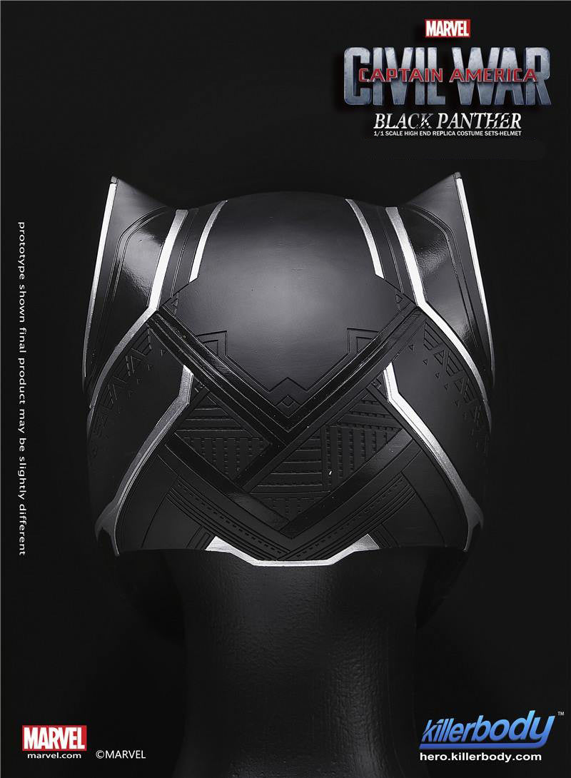 Killerbody - 1/1 Scale High End Replica - Captain America: Civil War - Black Panther Helmet - Marvelous Toys - 5