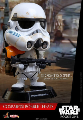 Hot Toys - COSB334 - Rogue One: A Star Wars Story - Stormtrooper Jedha Patrol (TK-14057) Cosbaby Bobble-Head - Marvelous Toys - 1