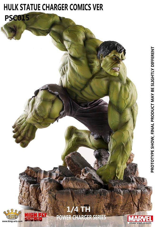 King Arts - Power Charger Series PCS015 - Hulk Comics - 1/4th Scale Hulk Comics Ver. (Wireless Charging) - Marvelous Toys - 1