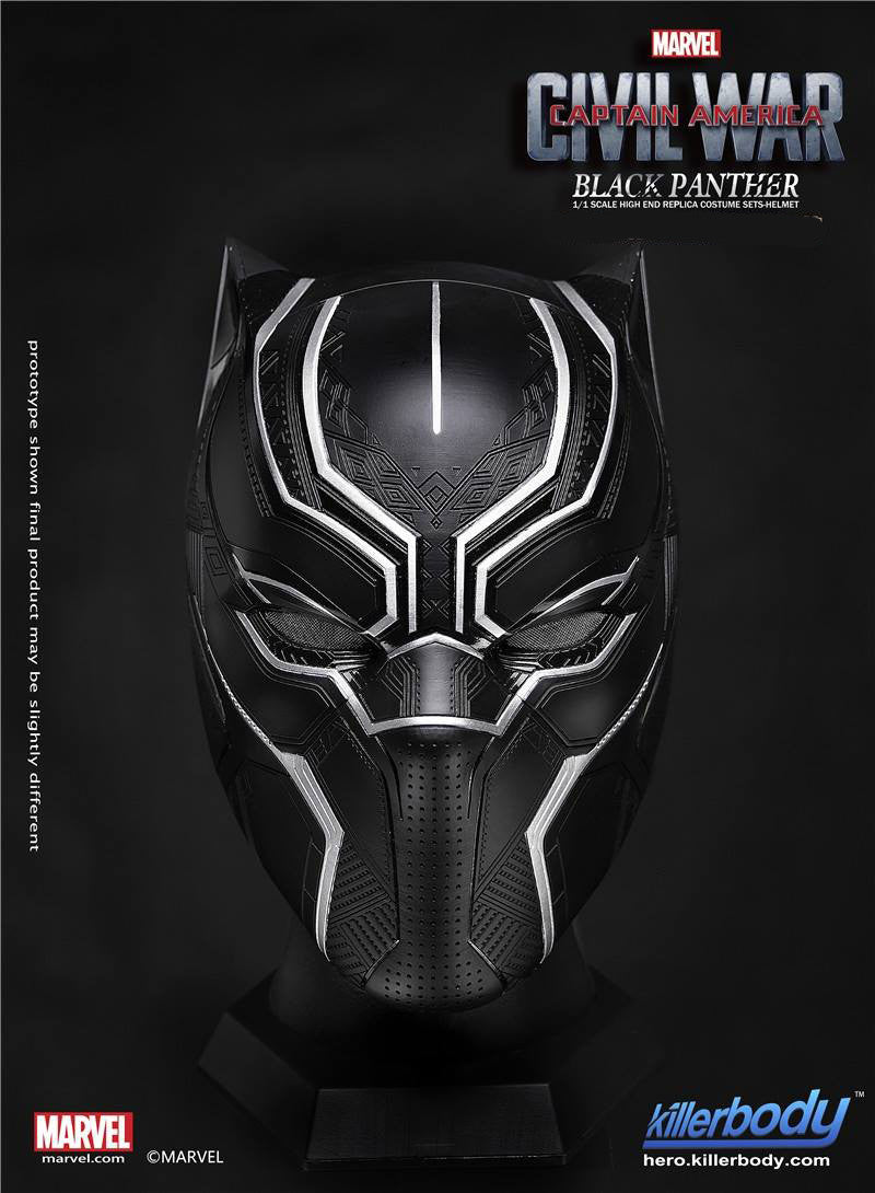 Killerbody - 1/1 Scale High End Replica - Captain America: Civil War - Black Panther Helmet - Marvelous Toys - 2