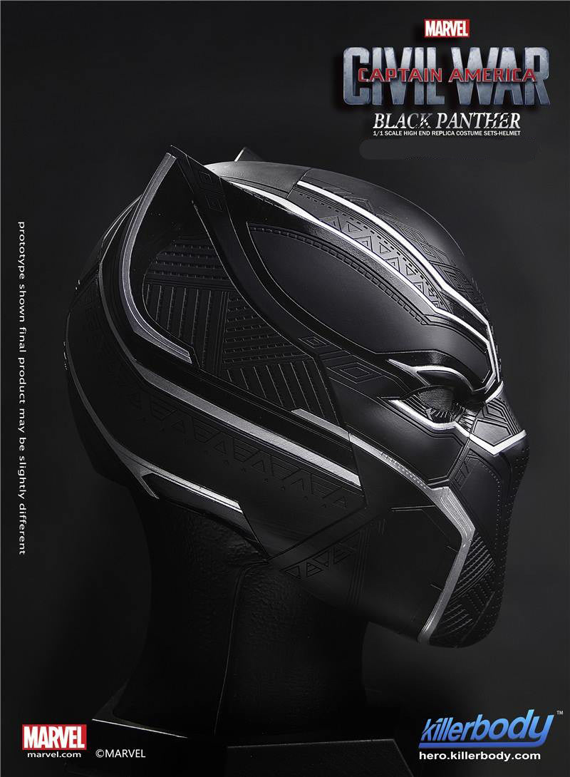Killerbody - 1/1 Scale High End Replica - Captain America: Civil War - Black Panther Helmet - Marvelous Toys - 3
