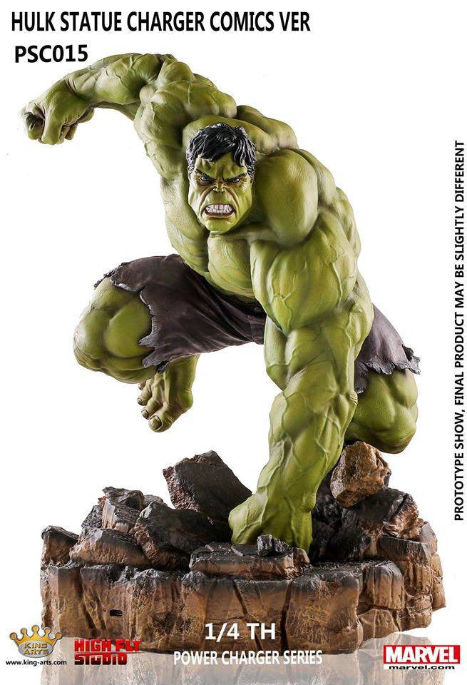 King Arts - Power Charger Series PCS015 - Hulk Comics - 1/4th Scale Hulk Comics Ver. (Wireless Charging) - Marvelous Toys - 3