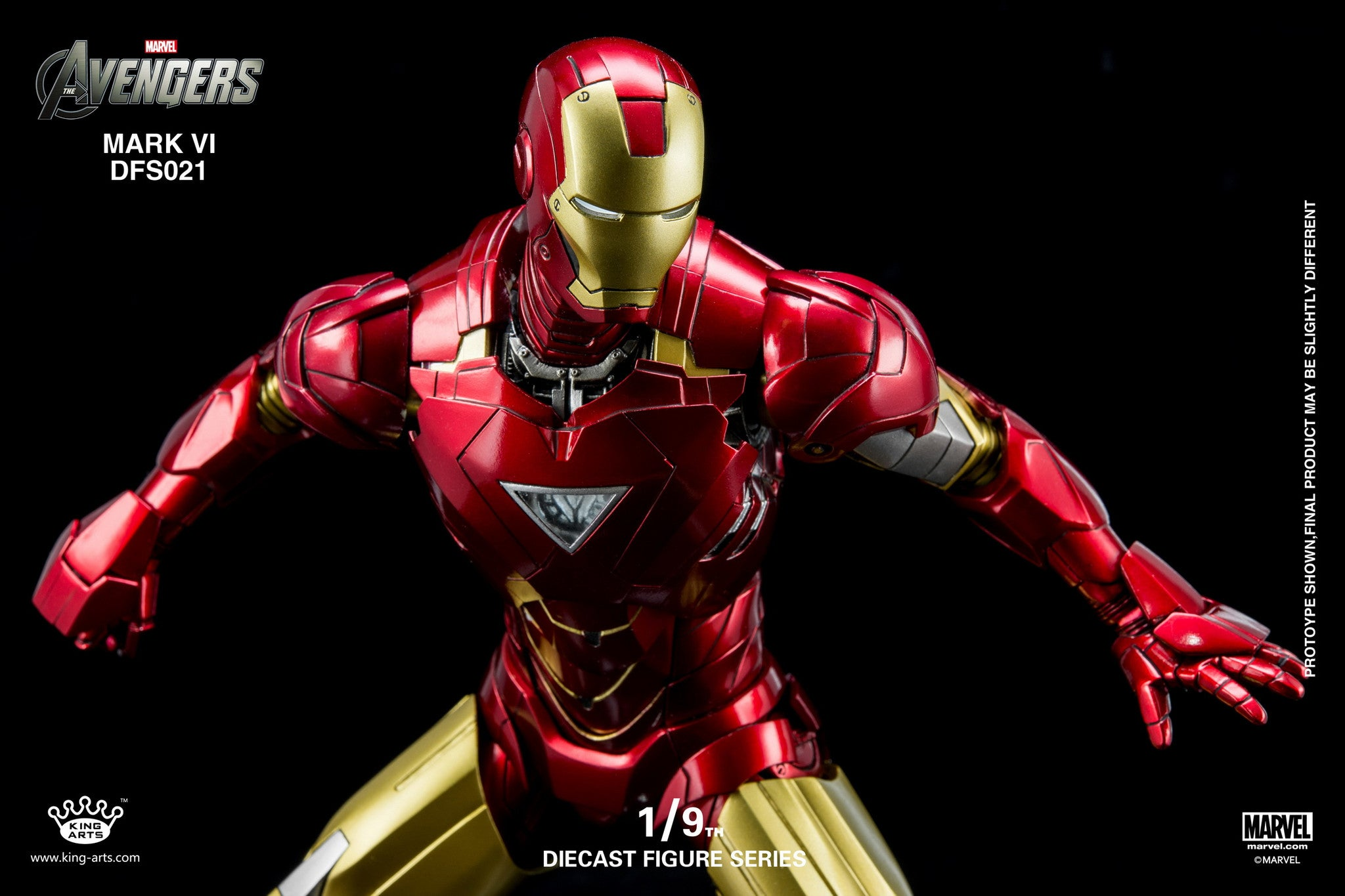 King Arts - 1/9 Diecast Iron Man Mark VI - Marvelous Toys - 2