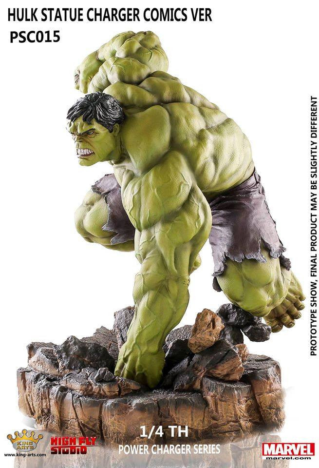 King Arts - Power Charger Series PCS015 - Hulk Comics - 1/4th Scale Hulk Comics Ver. (Wireless Charging) - Marvelous Toys - 4
