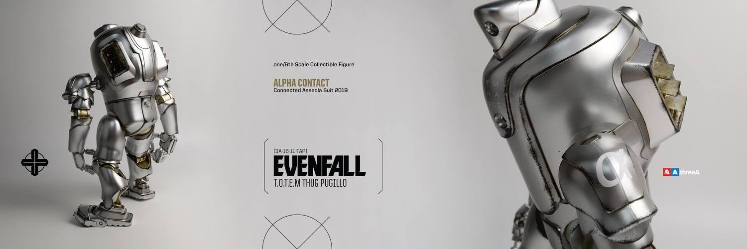 ThreeA - Evenfall - 1/6 T.O.T.E.M Thug Pugillo - Alpha Contact (Silver) - Marvelous Toys - 10