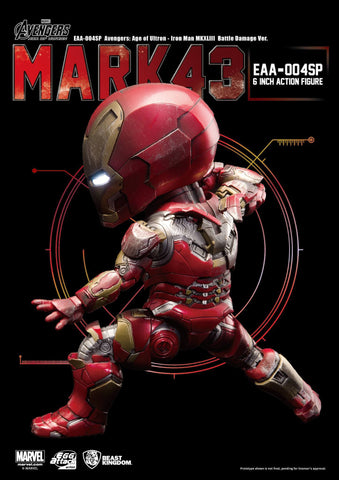 Egg Attack Action - EAA-004SP - Avengers: Age of Ultron - Iron Man Mark 43 (XLIII) (Battle Damage Edition) - Marvelous Toys - 2