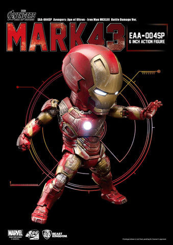 Egg Attack Action - EAA-004SP - Avengers: Age of Ultron - Iron Man Mark 43 (XLIII) (Battle Damage Edition) - Marvelous Toys - 1