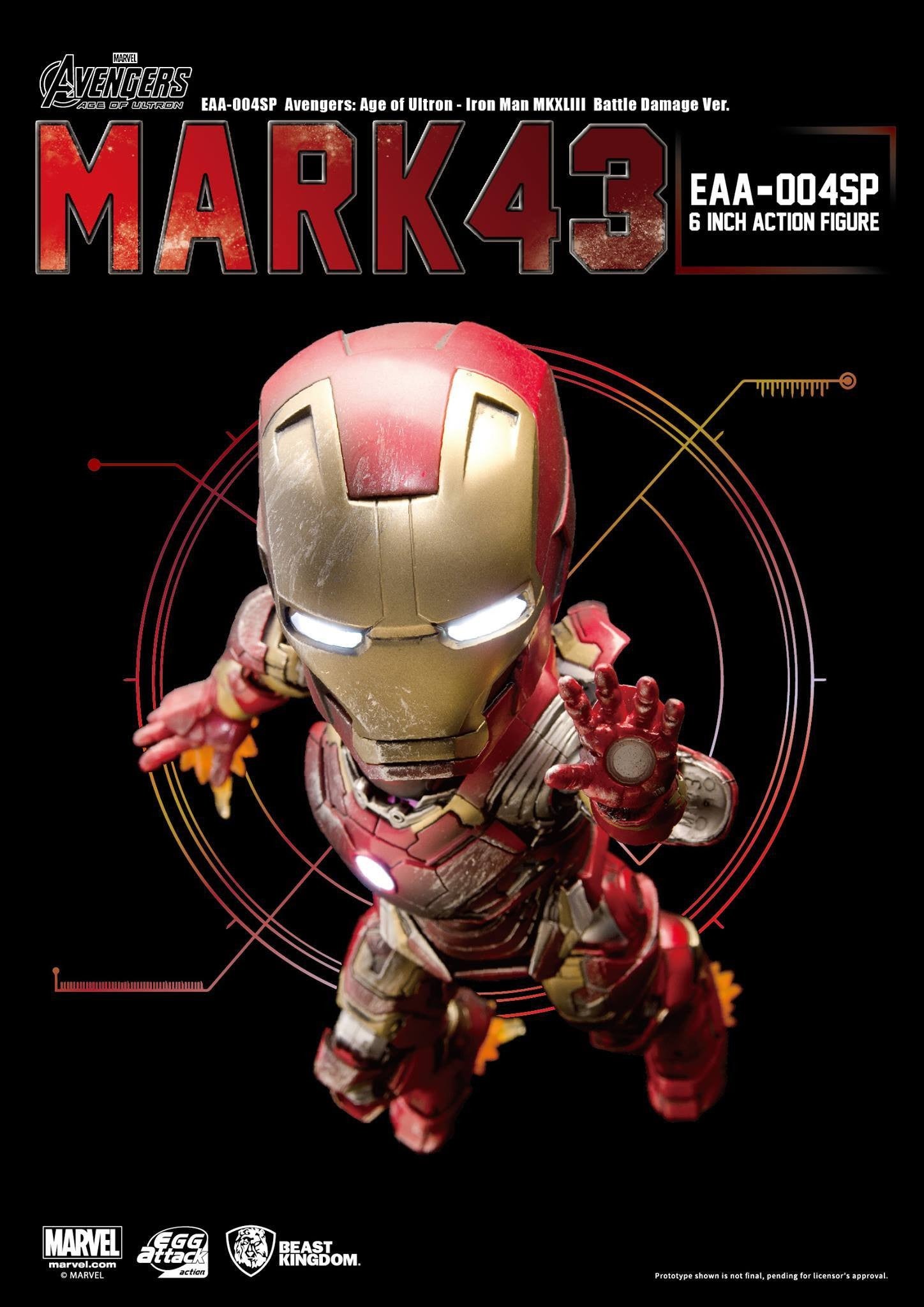 Egg Attack Action - EAA-004SP - Avengers: Age of Ultron - Iron Man Mark 43 (XLIII) (Battle Damage Edition) - Marvelous Toys - 3