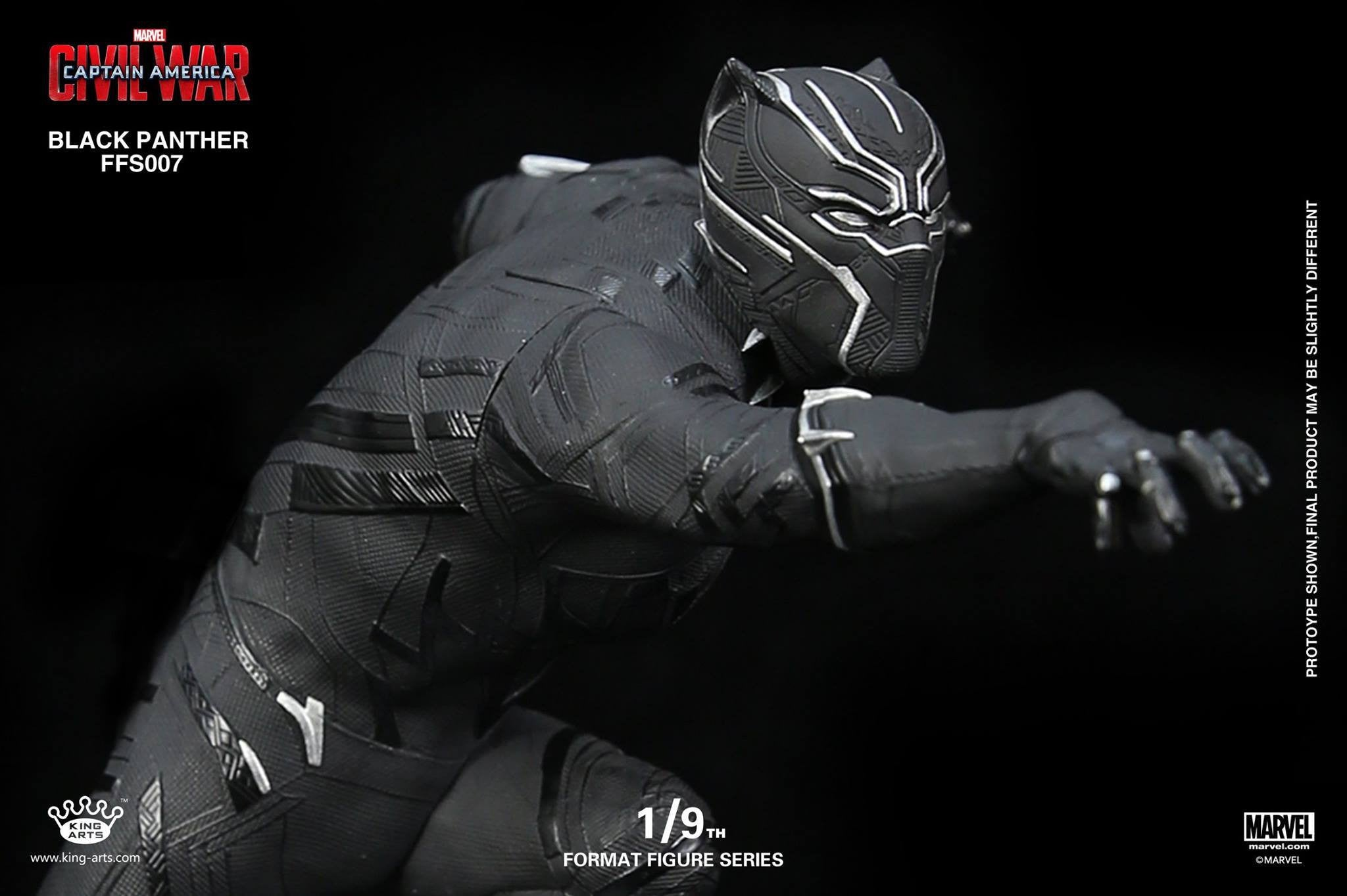 King Arts - FFS007 - Captain America: Civil War - Black Panther (1/9th Scale) - Marvelous Toys - 3