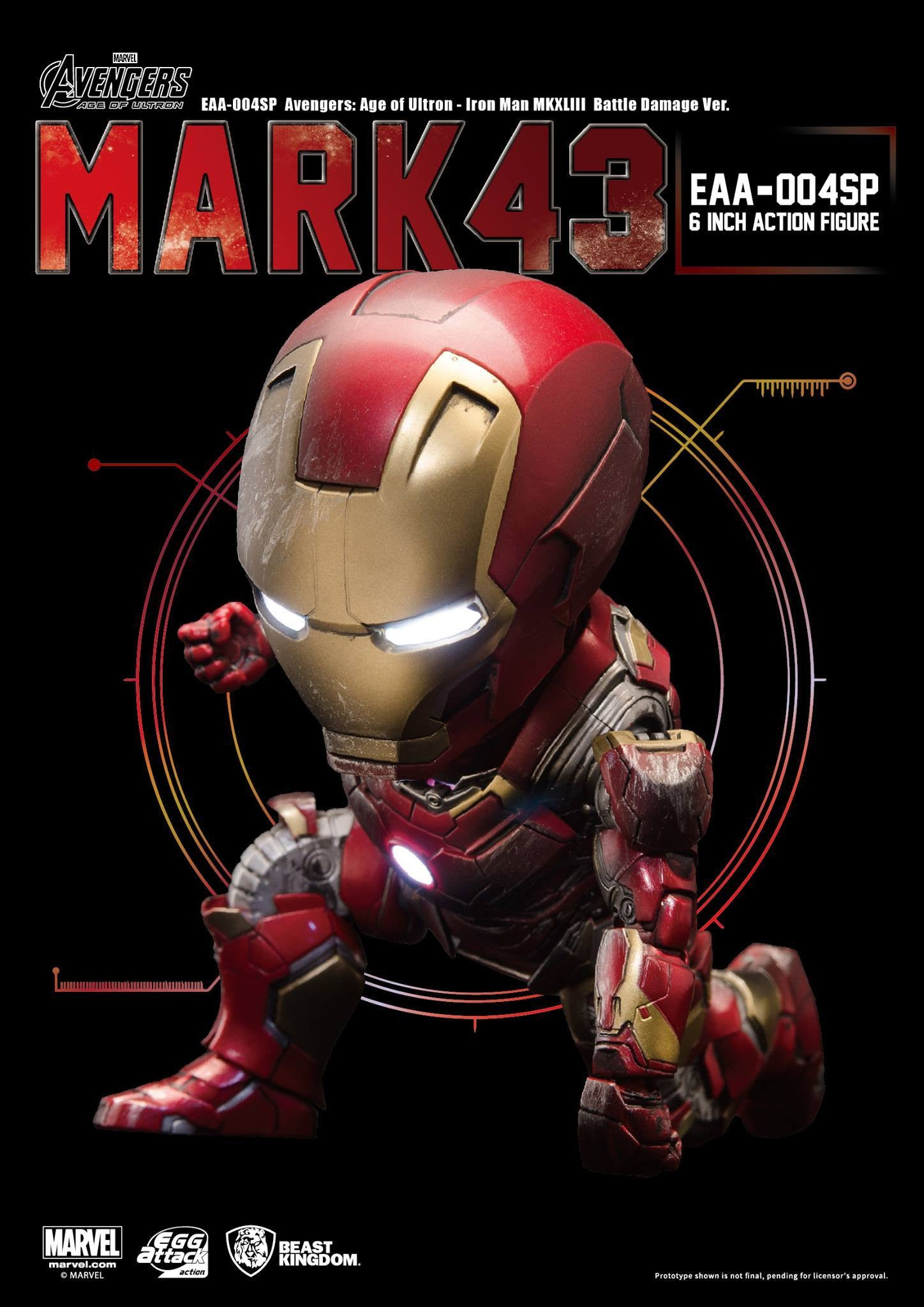 Egg Attack Action - EAA-004SP - Avengers: Age of Ultron - Iron Man Mark 43 (XLIII) (Battle Damage Edition) - Marvelous Toys - 4