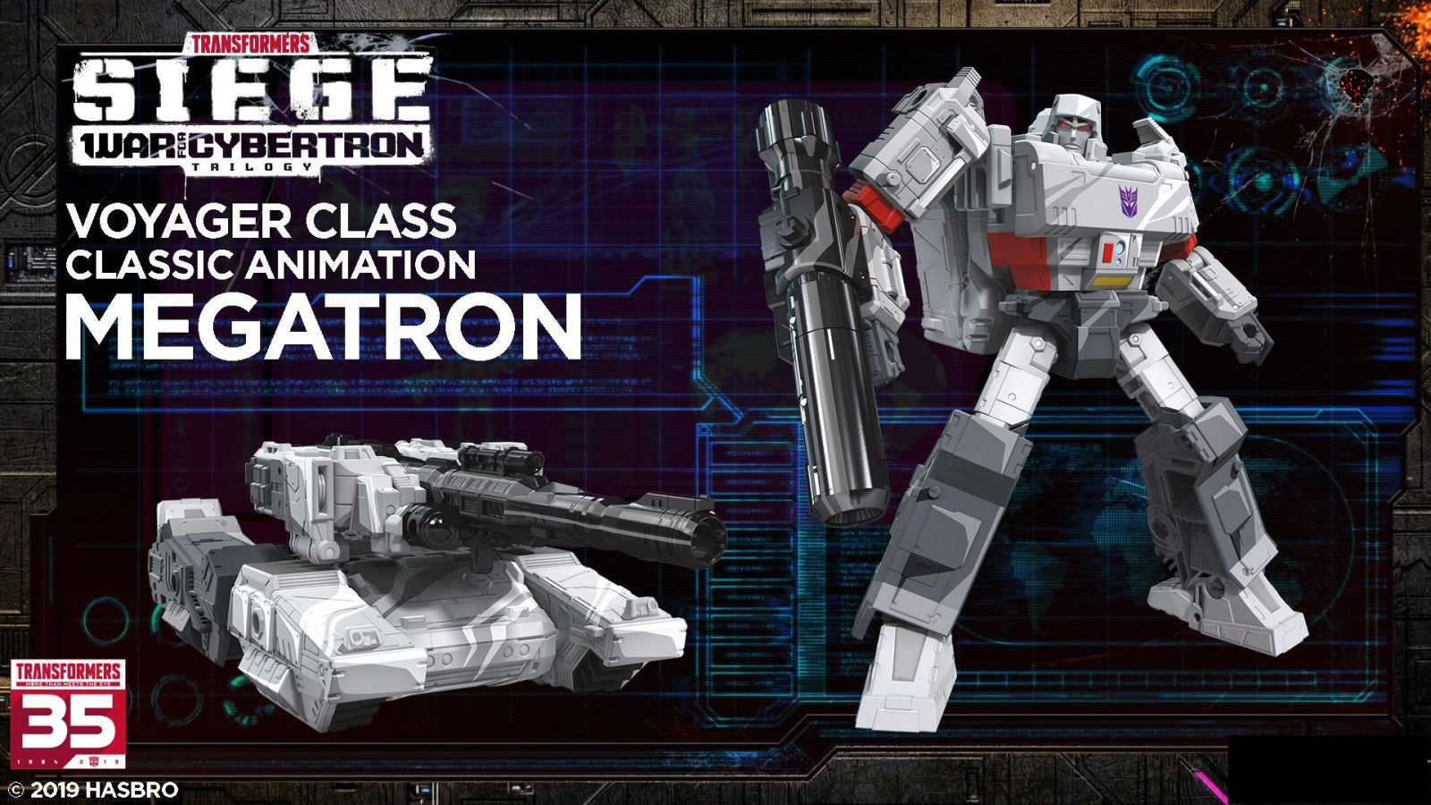 Hasbro - Transfomers Generations - War For Cybertron: Siege - Voyager -  Megatron (Classic Animation)