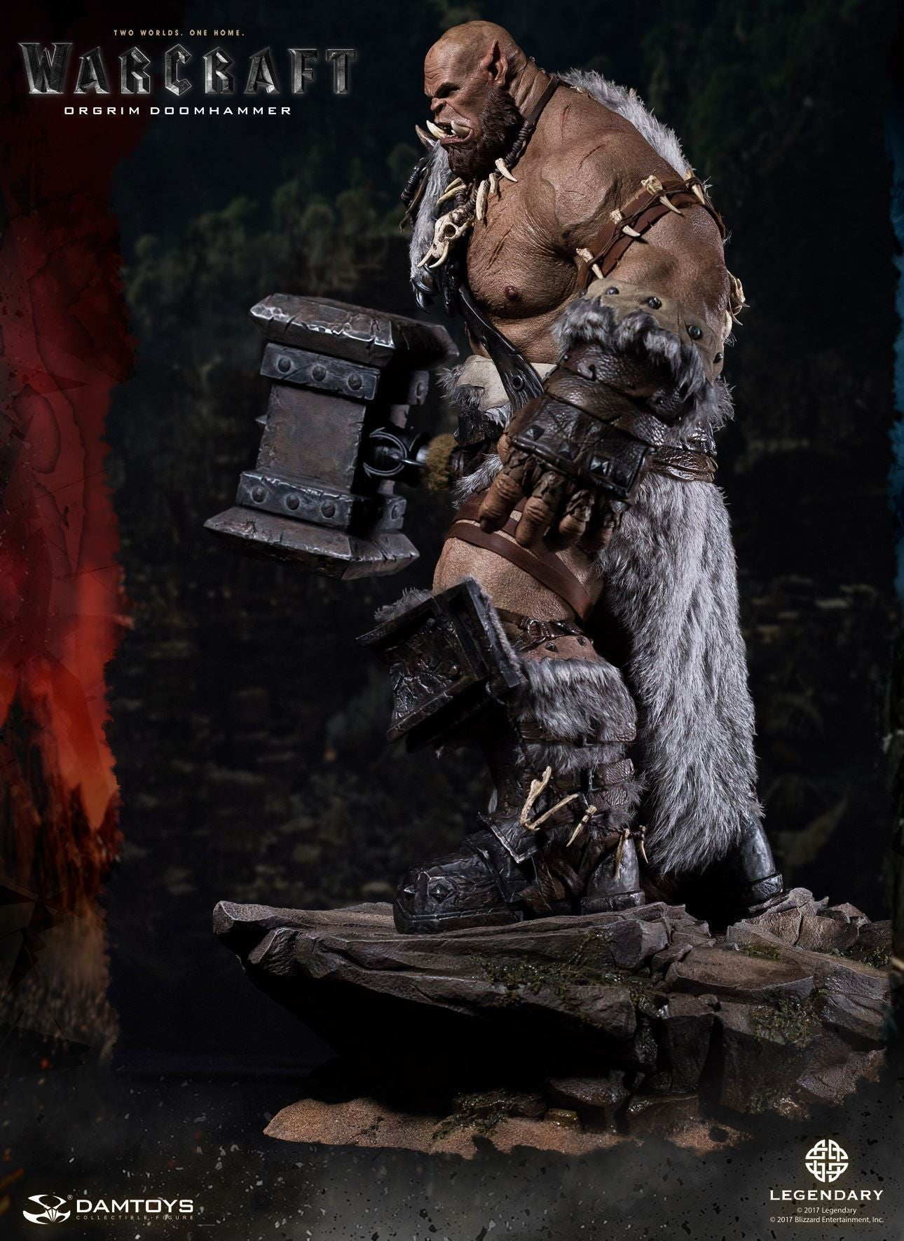 Dam Toys - DMLW02 - Epic Series - Warcraft - Orgrim Doomhammer Premium Statue - Marvelous Toys - 5