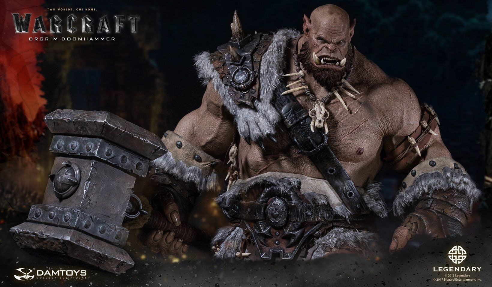 Dam Toys - DMLW02 - Epic Series - Warcraft - Orgrim Doomhammer Premium Statue - Marvelous Toys - 10