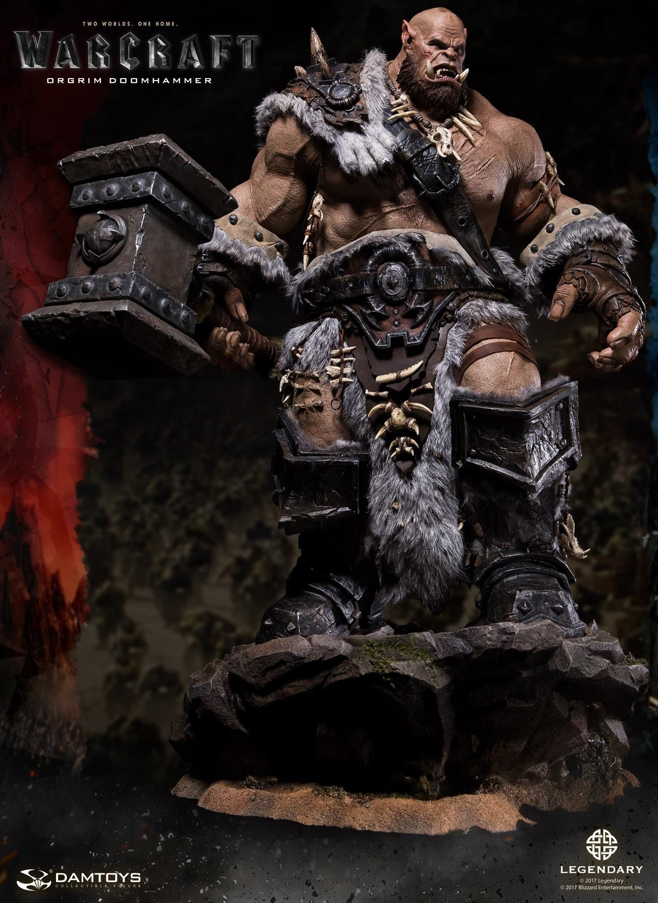 Dam Toys - DMLW02 - Epic Series - Warcraft - Orgrim Doomhammer Premium Statue - Marvelous Toys - 12