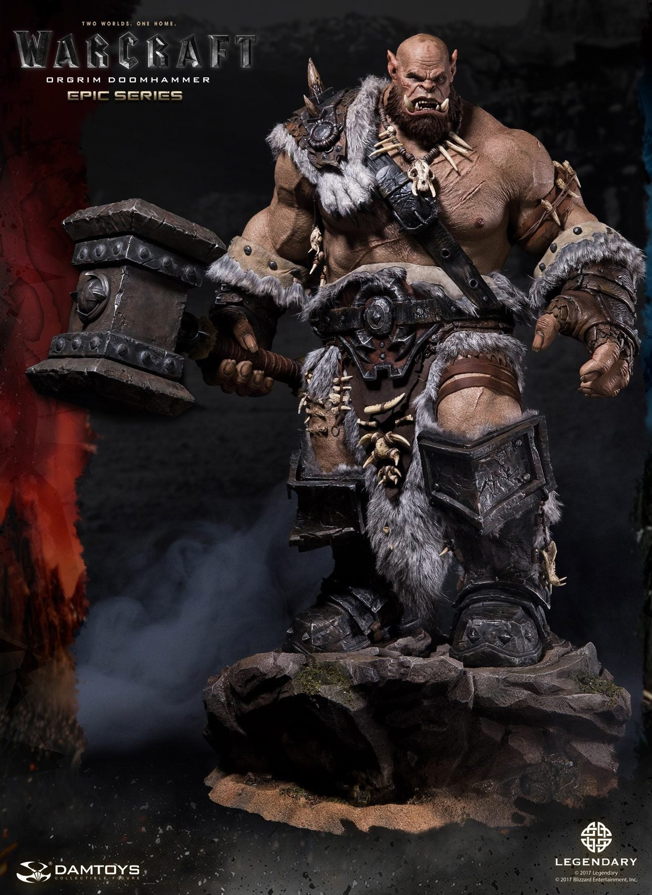 Dam Toys - DMLW02 - Epic Series - Warcraft - Orgrim Doomhammer Premium Statue - Marvelous Toys - 1